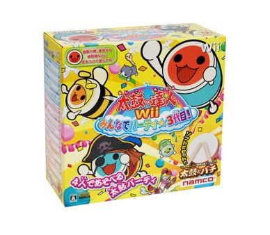 Amazon.co.jp: 太鼓の達人Wii みんなでパーティ☆3代目!  同梱版   ゲーム-002935